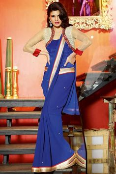 #party #saree @  http://zohraa.com/blue-faux-georgette-saree-kasatenvy10103-e.html #partysarees #celebrity #zohraa #onlineshop #womensfashion #womenswear #bollywood #look #diva #party #shopping #online #beautiful #beauty #glam #shoppingonline #styles #stylish #model #fashionista #women #lifestyle #fashion #original #products #saynotoreplicas (Shipping : Your order will be shipped within 1 day from the date of purchase)