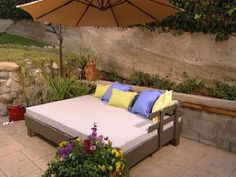 Build an outdoor daybed for lazy days enjoying the freshness of spring in the air. Get the step-by-step instructions here.