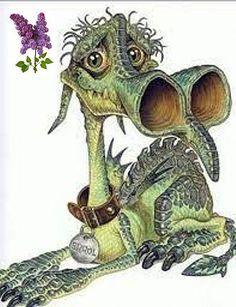 Errol the dragon (from the Discworld books by Terry Prachett artwork by Josh Kirby) Fantasy Animal, Fantasy Creatures, Mythical Creatures, Fantasy Dragon, Dragon Art, Fantasy Books, Fantasy Art, Discworld Tattoo, Discworld Books