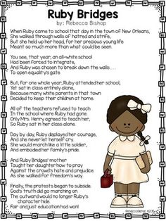 Ruby Bridges Reader Black History First Grade And