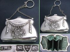 THE WORDS PRETIEST EDWARDIAN SILVER VISITING PURSE HALLMARKED CHESTER 1909