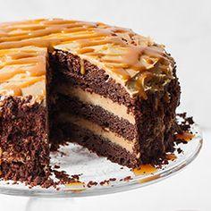 Tort brownie z masłem orzechowym | Kwestia Smaku