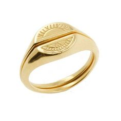 Browse Solid Gold Sun Signet Ring and more from No 13 at Wolf & Badger - the leading destination for independent designer fashion, jewellery and homewares. Matching Wedding Rings, Matching Rings, Sun And Moon Rings, Bling Bling, Alternative Engagement Rings, Signet Ring, Diamond Wedding Bands, Solid Gold, Gold Jewelry