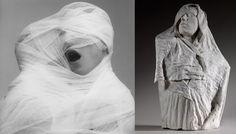 Robert Mapplethorpe, White Gauze (1984) / Auguste Rodin, Torse de l'âge d'airain drapé (vers 1895) http://www.vogue.fr/vogue-hommes/culture/diaporama/mapplethorpe-et-rodin-en-reflexion-robert-mapplethorpe-expostion-au-musee-rodin/18002/image/988348#!exposition-robert-mapplethorpe-rodin-musee-rodin-white-gauze