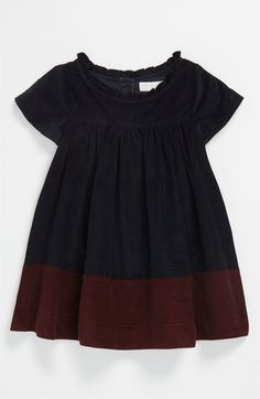 I typically loathe Burberry, but I LOVE this little wintery dress. Is it silly for Annie's dress to be more expensive than mine for Christmas? Burberry Colorblock Corduroy Dress (Infant) | Nordstrom