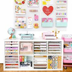 [New] The 10 Best Craft Ideas Today (with Pictures) - Craft room goals! She Crafts in it! Craft Room Storage, Pegboard Craft Room, Ikea Pegboard, Cricut Craft Room, Room Organization, Organizing Life, Paper Storage, Ikea Skadis, Small Craft Rooms