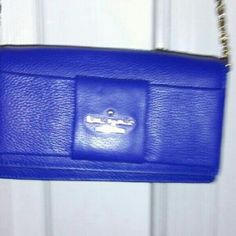 Kate Spade New York. Julia Street  Rina crossbody Bright lapis crossbody bag, designer logo at front  only worn this bag once for an office Christmas dinner. Since then it being in my closet..please make me a reasonable offer I can work with... kate spade Bags Crossbody Bags