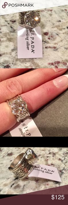 Silpada ring New! Stamped 925. Tons of sparkle. A true statement ring! Sizes 6 1/2 and 8 available. Silpada Jewelry Rings