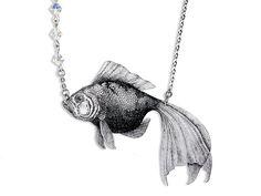 Acryl Kette Goldfisch von Dear Prudence auf DaWanda.com