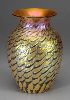 38: Lundberg art glass vase, : Lot 38