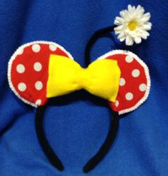 Minnie Mouse Ears by CrazyBeautifulCreati on Etsy, $20.00