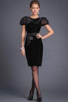 Платье сшить черное бархат