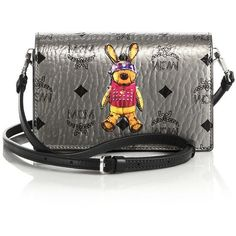 MCM Rabbit Coated Canvas Crossbody Bag ($600) ❤ liked on Polyvore featuring bags, handbags, shoulder bags, apparel & accessories, mcm handbags, cross body, mcm, cross-body handbag and mcm purse
