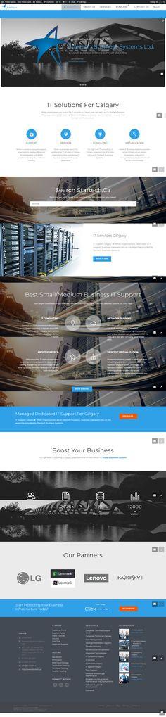 Startech – Business Systems Ltd. Calgary, Website, Business, Design, Design Comics