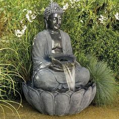 Zen Water Fountain Ideas For Garden Landscaping 34