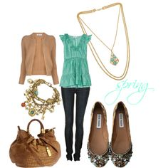 I don't really like that cardigan, and it isn't my favorite. But I like the shoes tying it all together..