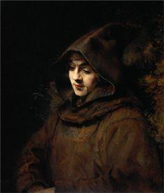 Titus van Rijn [ artist's son] in a Monk`s Habit-Artist: Rembrandt