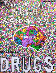 This item is unavailable Brain Painting, Pink Floyd Poster, Psy Art, Poetry Art, Alien Art, Hippie Art, Psychedelic Art, Trippy, Illusions