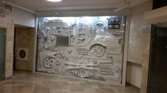 A 3D art piece Made from real car parts Ronen Tinman #car #furniture #recycle #functionalart #art #design #mancave
