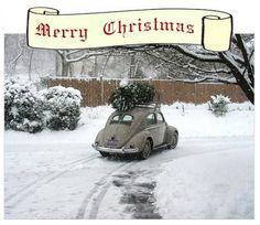 Merry Christmas VW Beetle Style