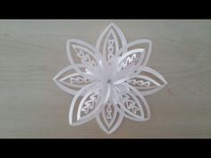 Volumetric 3D snowflake out of paper. 3D Paper Snowflake - YouTube