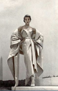 Jean Patchett in Christian Dior, Vogue 1951 Women's vintage designer fashion photography photo image