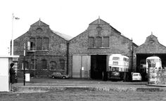 Clontarf garage 1967. Buses And Trains, Old Trains, Old Pictures, Old Photos, Photo Engraving, Dublin City, Dublin Ireland, How To Memorize Things, The Past