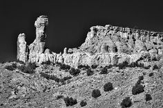 Photograph by Stuart Litoff.  #ChimneyRock at the #GhostRanch near #SantaFe, #NewMexico
