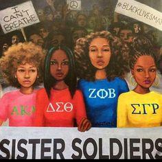 What do you think? Aka Sorority, Alpha Kappa Alpha Sorority, Delta Sigma Theta, Sorority And Fraternity, Black Girl Art, Black Women Art, Black Girls Rock, Black Girl Magic, Delta Girl