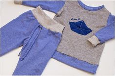 Kinderanzug z.T. aus altem Shirt / Toddlers' outfit partly made from old shirt / Upcycling