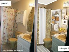 Bathroom Makeovers To Sell love the gray and yellow! easy and cheap bathroom makeovers
