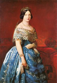 Isabel II by Federico Madrazo y Kunz, 1846 Spain, Banco de Espana