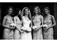 Bride and Bridesmaids // Black and white wedding photography // Fine Art Wedding Photographer // Butler-Madden Weddings
