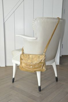$240.00 Gold Bag. I Love scallop edges.