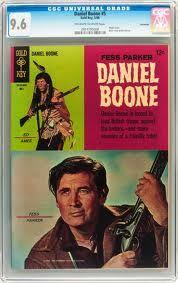 Fess Parker as Daniel Boone Vintage Comic Books, Vintage Comics, Vintage Stuff, Comic Books Art, Fess Parker, Planet Comics, Davy Crockett, Western Comics, Tv Westerns