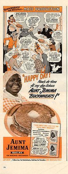 1942 Aunt Jemima Buckwheat Pancakes Original Print Ad - TnTCollectibles