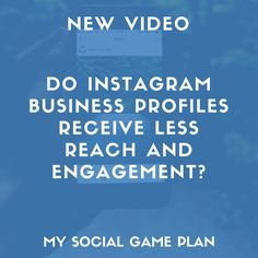 In this video, I tackle the notion that business profiles are inherently penalized with less reach than personal profiles, and also talk about some alternative explanations for why you might be seeing less reach and engagement on Instagram lately. If you're using Instagram for your business, or contemplating switching to a business profile, this is a must-watch! #Instagram #SocialMediaMarketing #Marketing #DigitalMarketing Social Media Marketing, Digital Marketing, Social Games, Business Profile, Locker, Alternative, Engagement, How To Plan, Watch