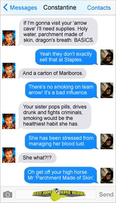 Texts From Superheroes Arrow / Constantine