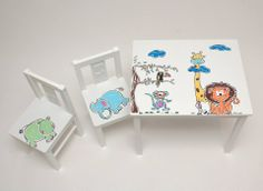 Muebles de niño pintados a mano por El armario de Bruno. https://www.facebook.com/pages/El-armario-de-Bruno
