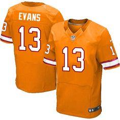 a8faa0f4272 Nike Elite Mike Evans Orange Men's Jersey - Tampa Bay Buccaneers #13 NFL  Alternate