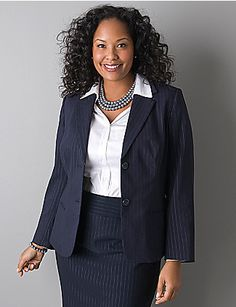 Pinstripe Blazer By Lane Bryant Professional Dress For Women Interview Suits Suit