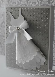 Wedding card using embossed fabric!