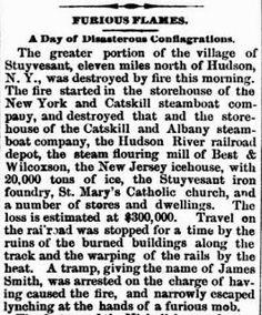 Genealogical Gems: On This Day: Fire destroys Stuyvesant