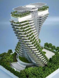 zeitgenössische kunst ökosystem vertikale gärten wolkenkratzer                                                                                                                                                      Mehr