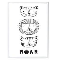 A Little Lovely Company Posteri 50x70 Roar