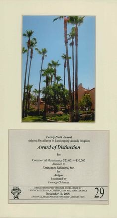 Judge's Award for Commercial Maintenance, 2005