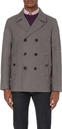 TED BAKER - Birdeye double-breasted cotton peacoat  1f05186fb
