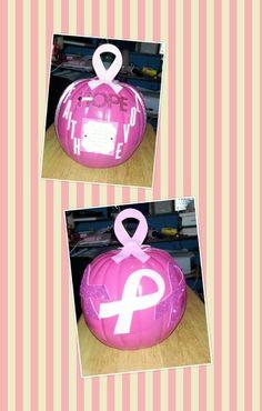 Breast cancer awareness month pumpkin
