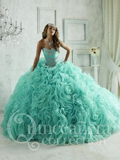 The Quinceanera Collection offers elegant quinceanera dresses, 15 dresses, and vestidos de quinceanera! These pretty quince dresses are perfect for your party! Xv Dresses, Pageant Dresses, Ball Dresses, Ball Gowns, Fashion Dresses, Pageant Wear, Gq Fashion, Fashion Ideas, Fashion Beauty