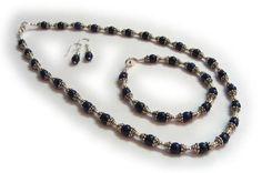 Lapis Lazuli silver set